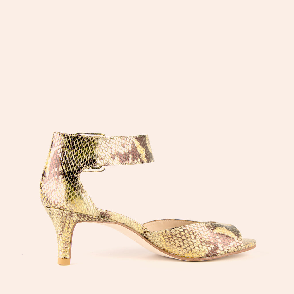 Berlin Low Heel - Gold Multi
