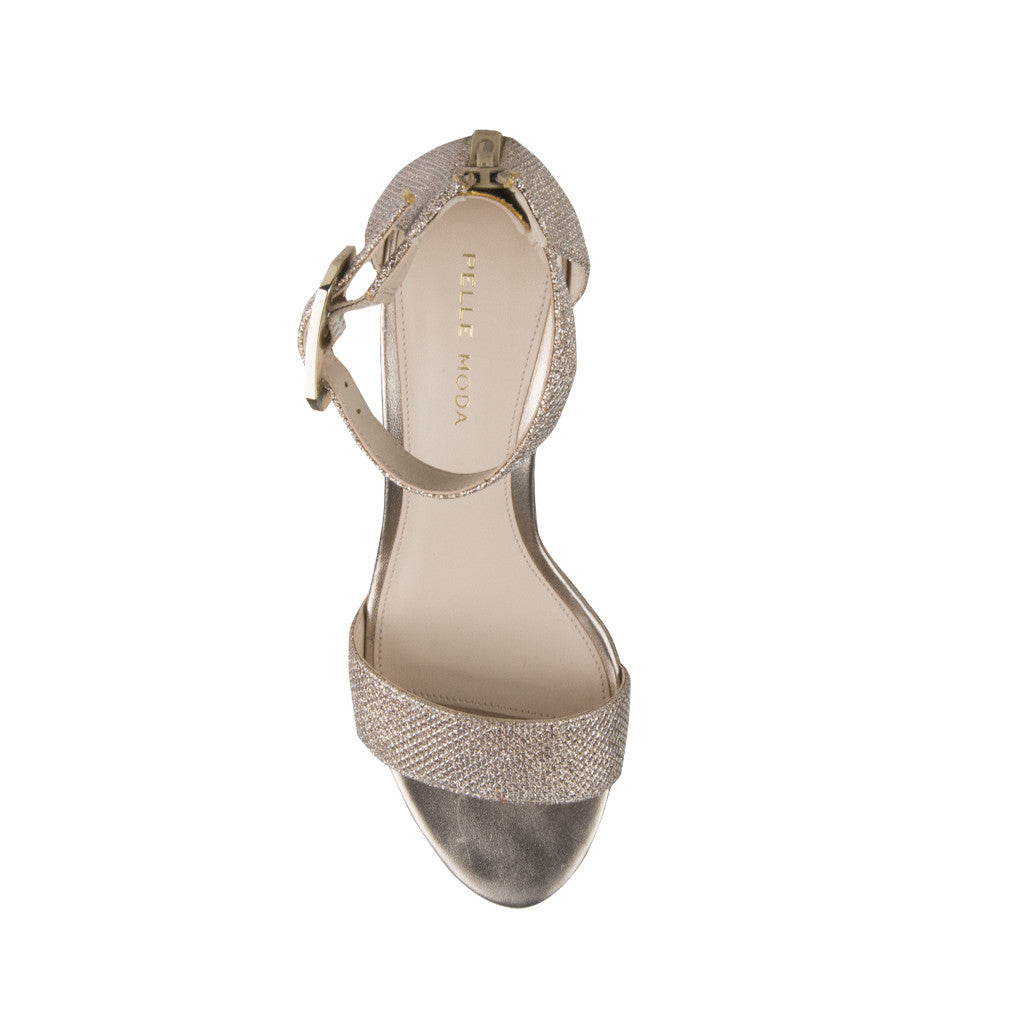 Bette (Platinum Gold / Metallic Textile) - Pellemoda.us  - 3