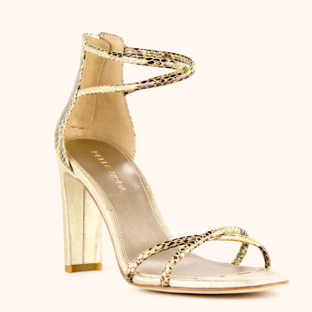 Cruz Heel - Gold Multi