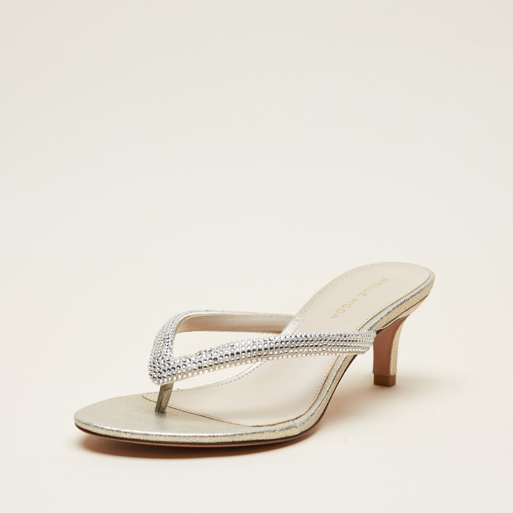 Eunice 2 (Platinum Gold / Satin / Metallic Suede)