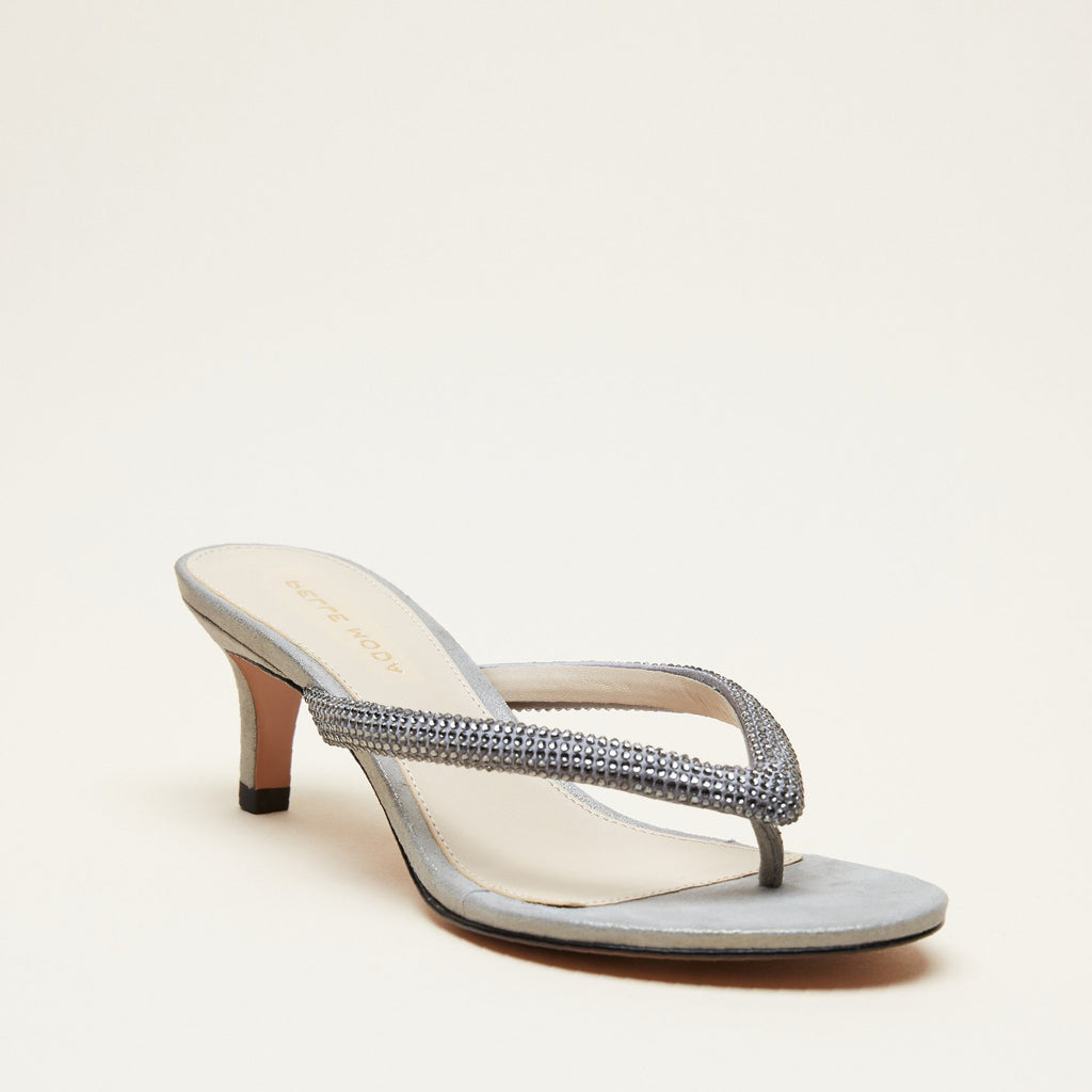 Eunice 2  (Pewter / Satin/Metallic/ Suede) 30% Off