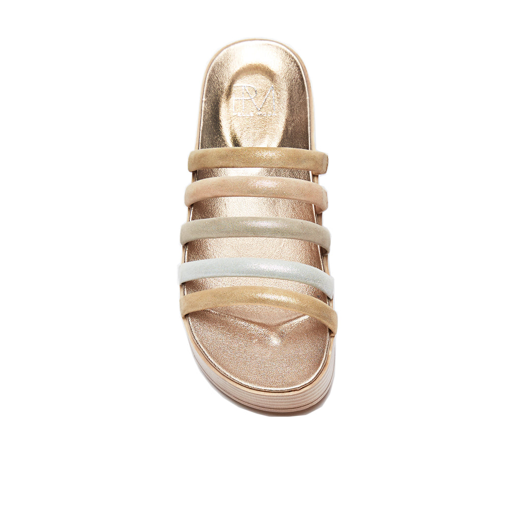 Fanny (Platino /Shimmer Suede Leather) 50% Off