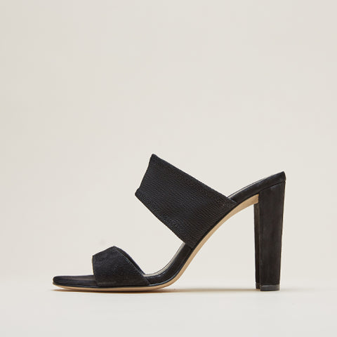 Dezi (Black / Kid Suede & Stretch Mesh)