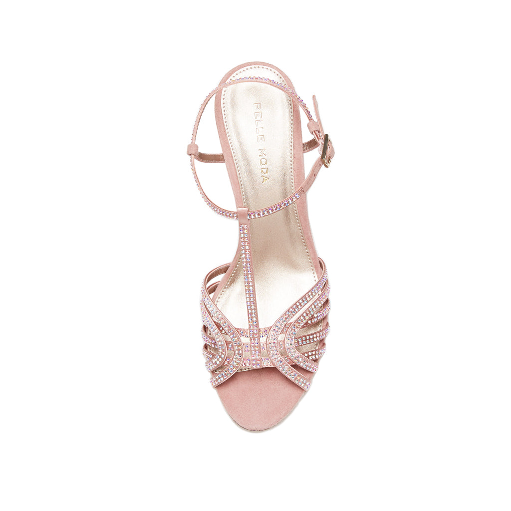 Ilane (Blush / Satin /Kid Suede Combo) 50% Off