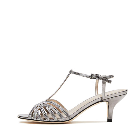 Rochell (Pewter / Satin/Metallic Kid Nappa) 30% Off