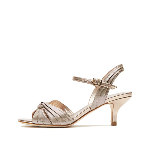 Rochell (Platinum Gold /Satin/ Metallic Kid Nappa) 30% Off