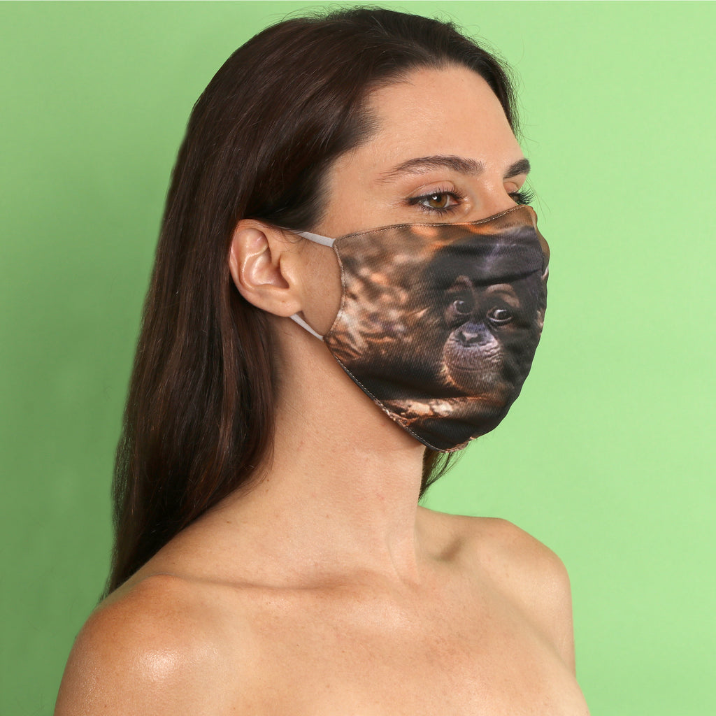 Baby Chimp Face Mask