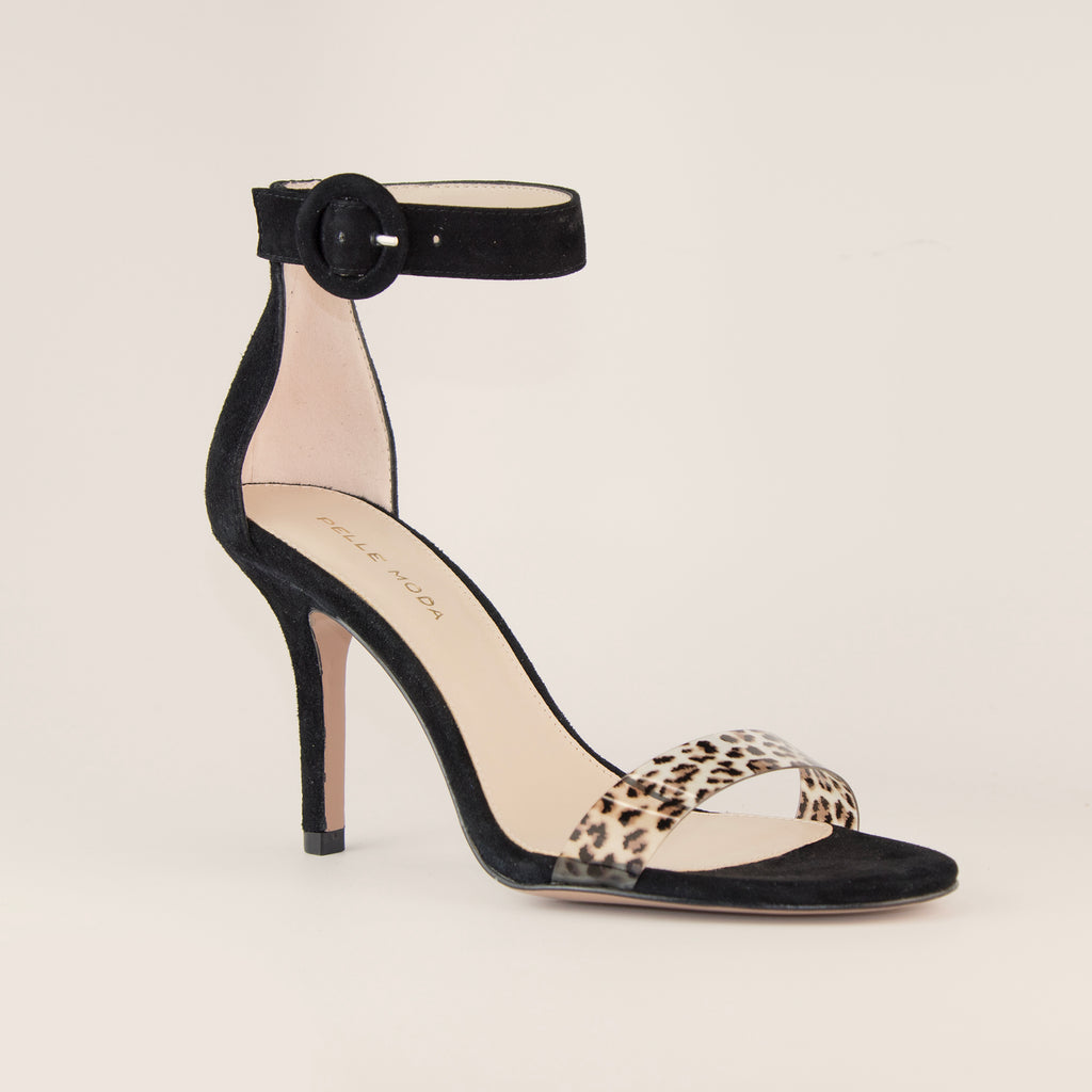 Kallie  (Black / Leopard/Kid Suede/Vinyl) 50% Off