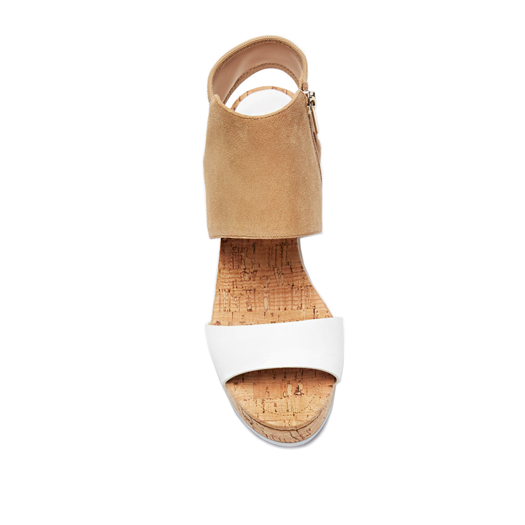 Katt ( White Calf/ Latte Kid Suede Leather) 25% Off