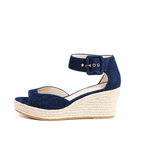 Pelle Moda - Kauai - Indigo Denim Wedges