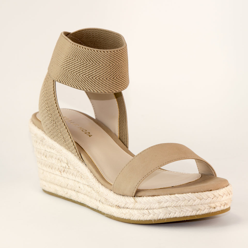 Kora (Latte / Nubuck Leather / Stretch Mesh)
