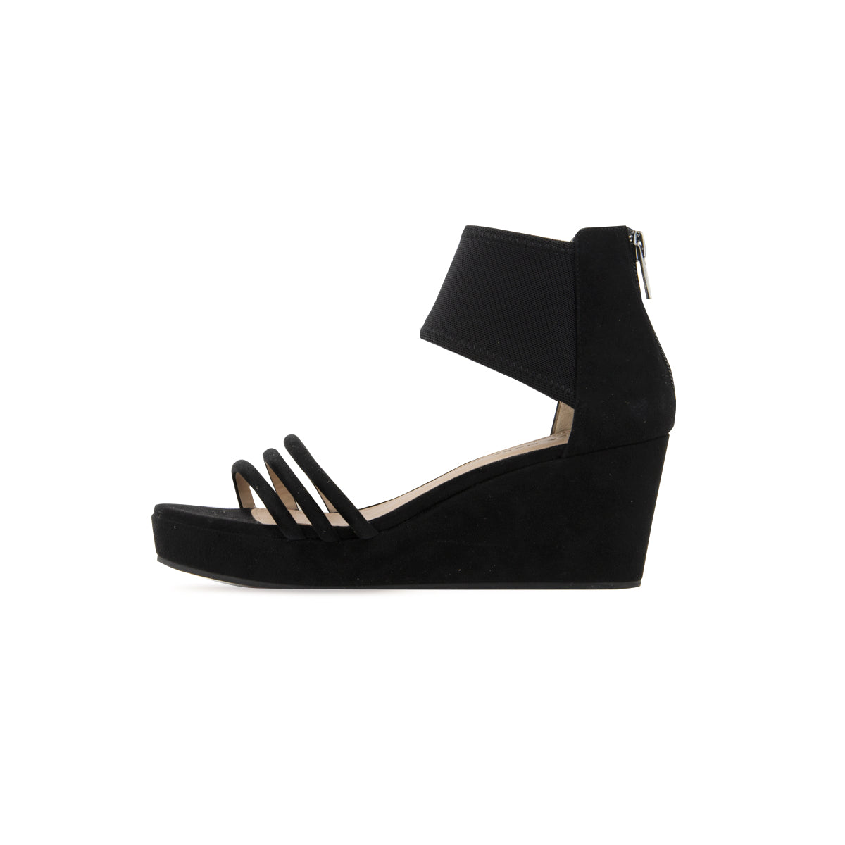 Katrice (Black Kid  Suede/Stretch Mesh)