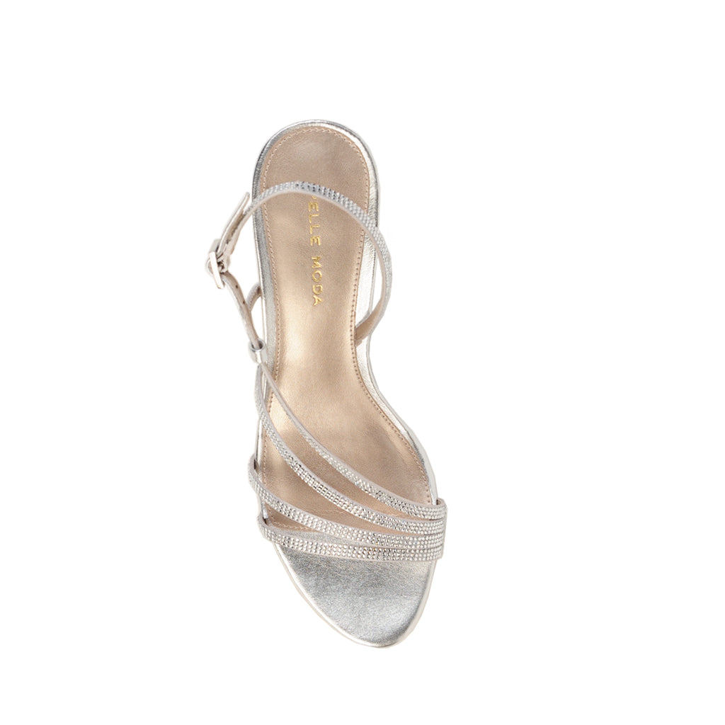 Lulu 2 (Silver / Satin & Metallic Nappa) 25% Off