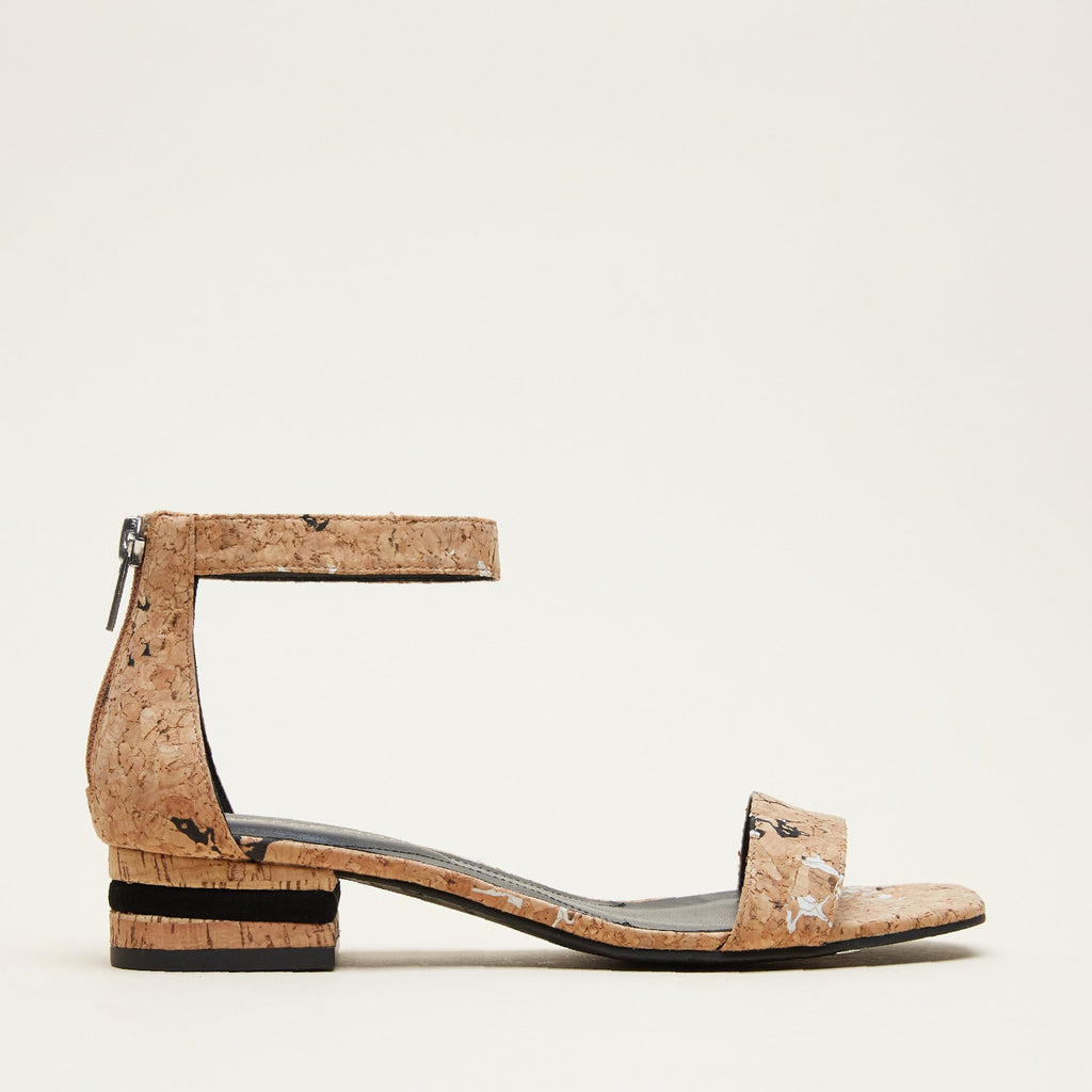 Nicole 2  (Black/White / Cork) 30% Off