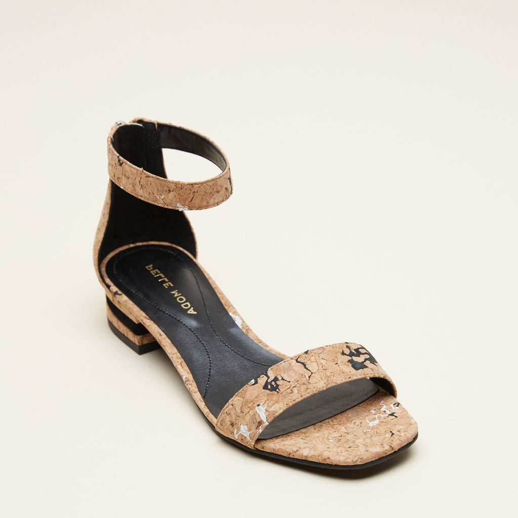 Nicole 2  (Black/White / Cork) 40% Off
