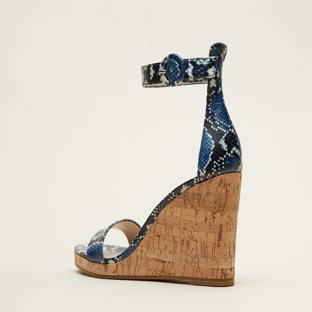 Nisha 2 (Indigo/Snake Embossed Leather) 25% Off