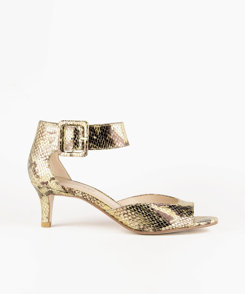 Pelle Moda - Berlin Low Heel - Gold Multi