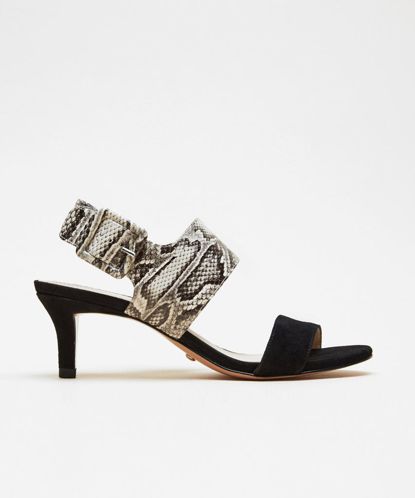 Pelle Moda - Bixby 2 (Black-White Embossed Snake)