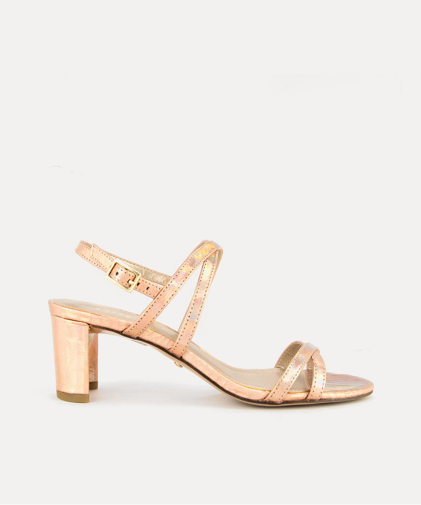 PELLE MODA - Layla Low Heel - Rose Gold