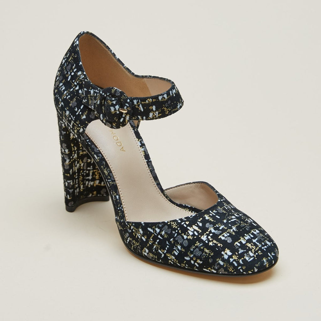Pierce (Metallic / Tweed Print Leather) 60% Off