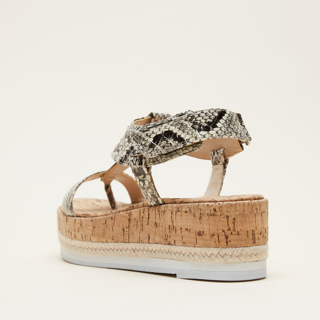 Pilar (Black/White/Embossed Snakeskin Leather) 50% Off