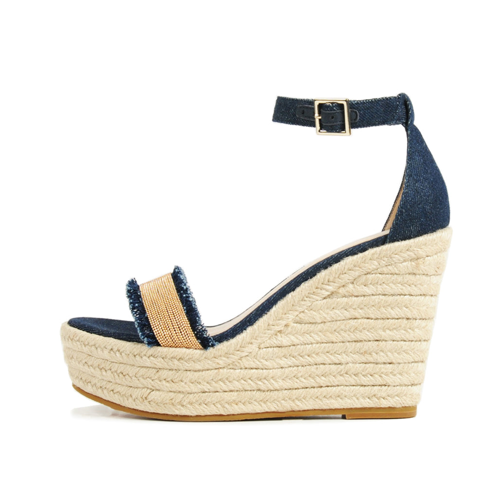 PELLE MODA - Radley (Indigo / Denim) - WEDGES