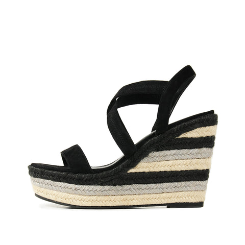 Lulu 2 (Black / Satin & Kid Suede) 30% Off
