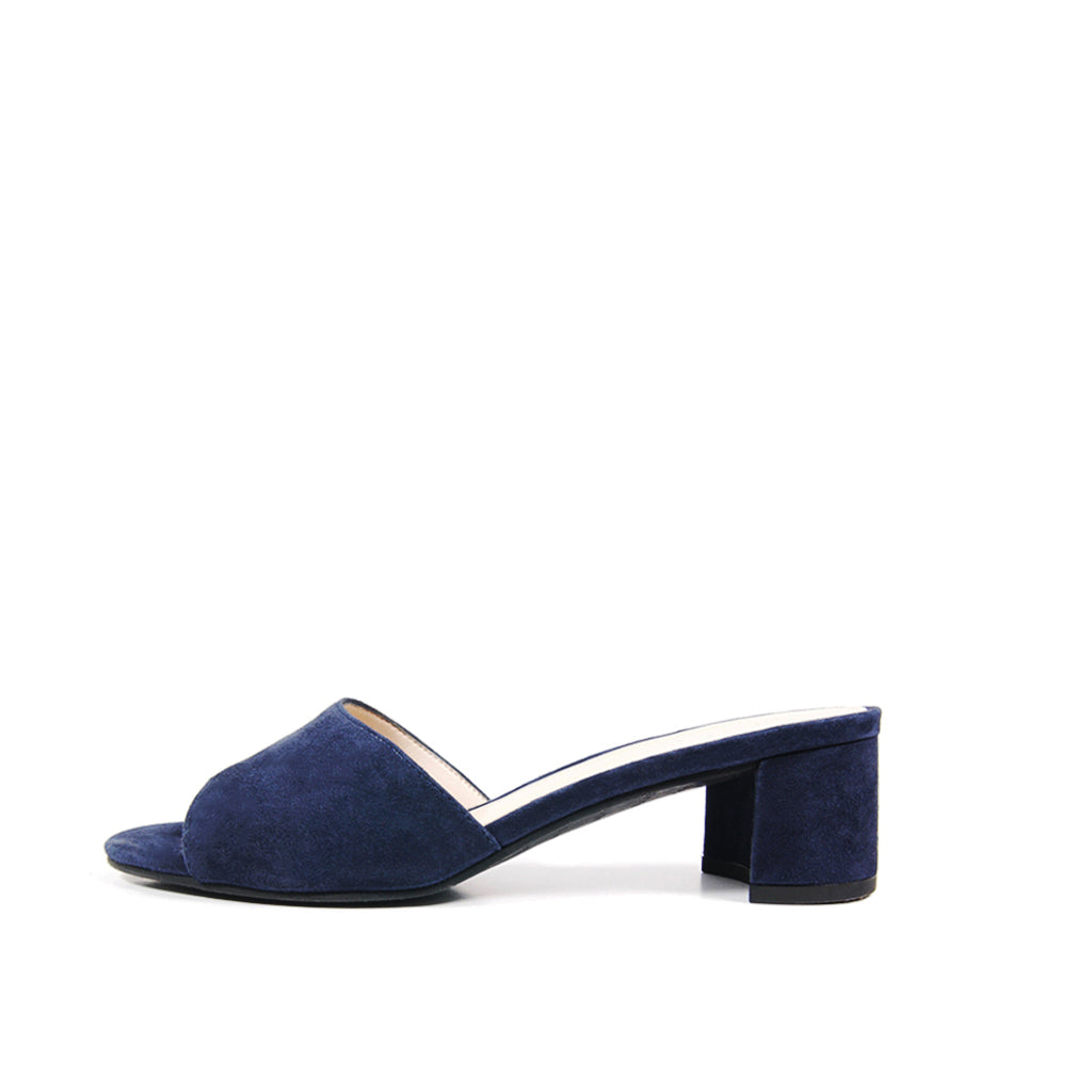 Pelle Moda - Rea - Midnight Blue Slide Sandal