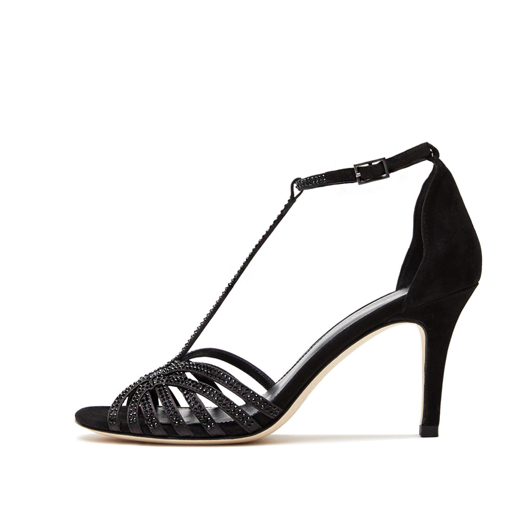 Rochell (Black /Satin/ Kid Suede) 30% Off