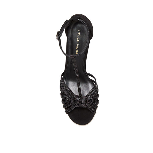 Rochell (Black /Satin/ Kid Suede) 40% Off