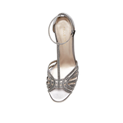 Rochell (Pewter / Satin/Metallic Kid Nappa) 40% Off