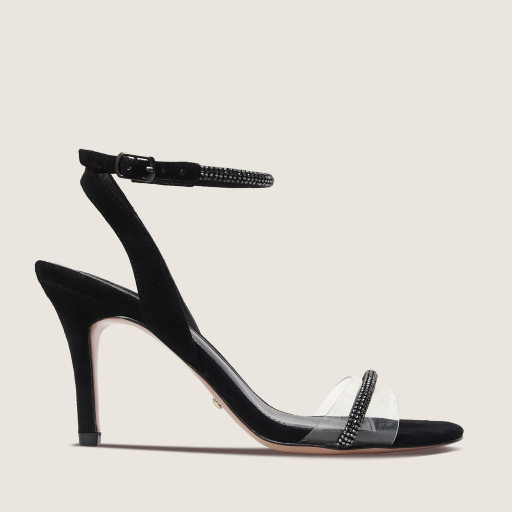 Roseli (Black / Kid Suede/Vinyl/Satin) 30% Off