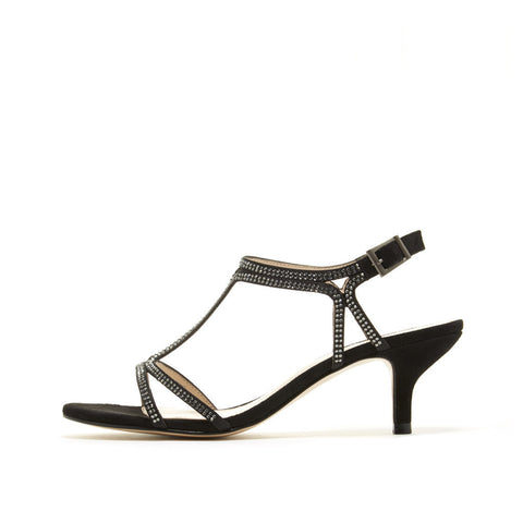 Abbie 2 (Black / Satin / Kid Suede) - Pellemoda.us  - 1