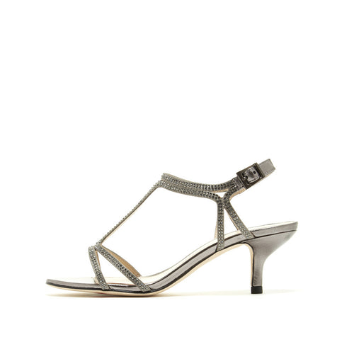 Abbie 2 (Pewter / Satin / Metallic Nappa Leather) - Pellemoda.us  - 1