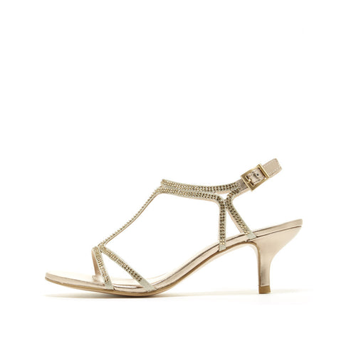 Abbie 2 (Platinum Gold / Satin / Metallic Nappa Leather) - Pellemoda.us  - 1
