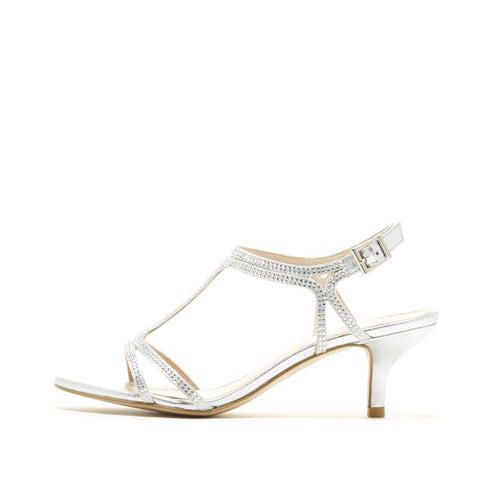 Abbie 2 (Silver / Satin / Metallic Nappa Leather) - Pellemoda.us  - 1