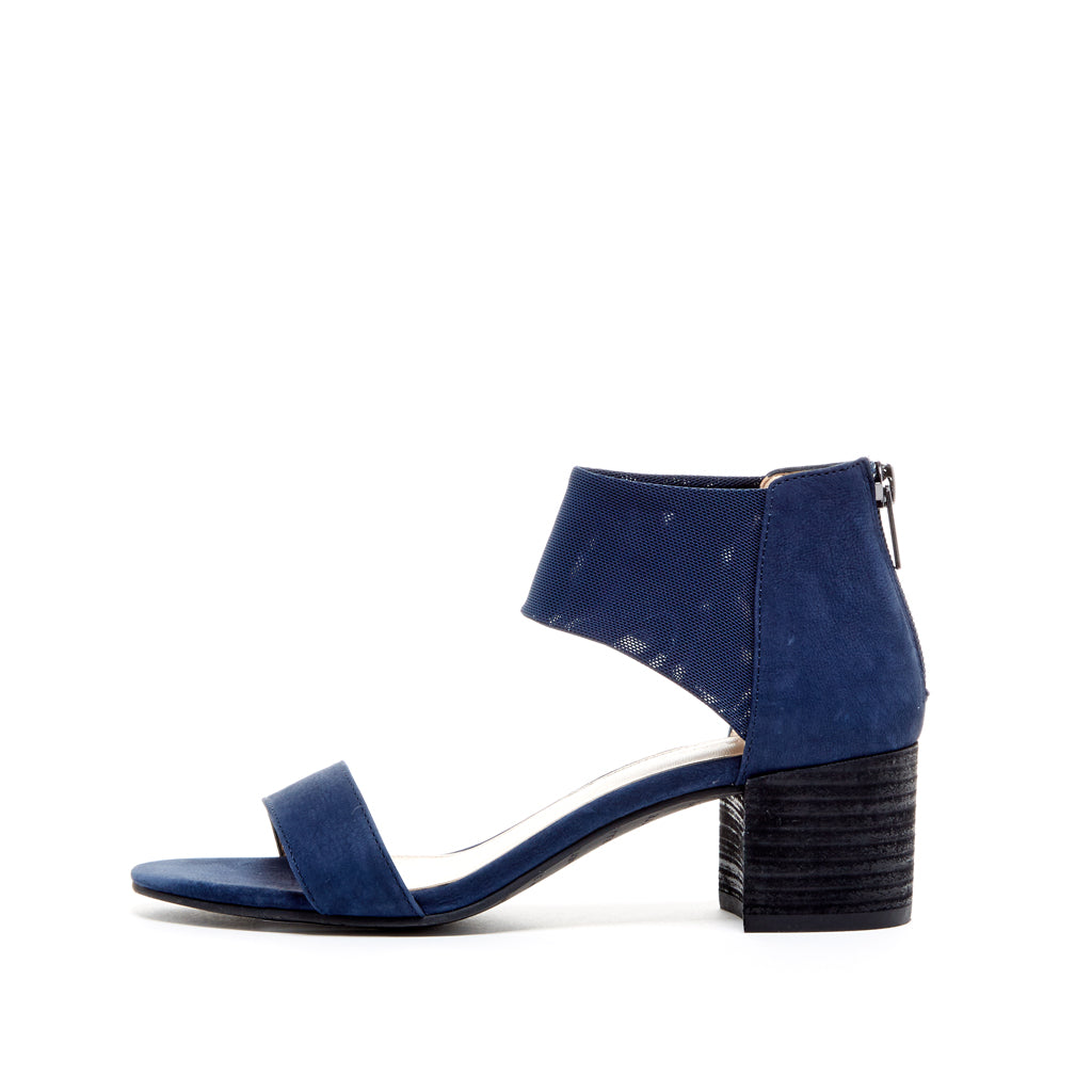 Pelle Moda - Alden - Midnight Blue Low Block Heels