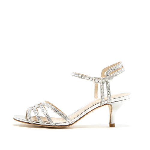 Alia (Silver / Kid Suede/ Metallic Kid Nappa Leather) - Pellemoda.us  - 1