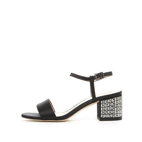 Alicia (Black / Satin) 50% Off