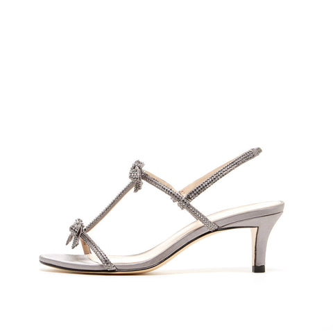 Alia (Pewter / Kid Suede / Metallic Kid Nappa Leather)