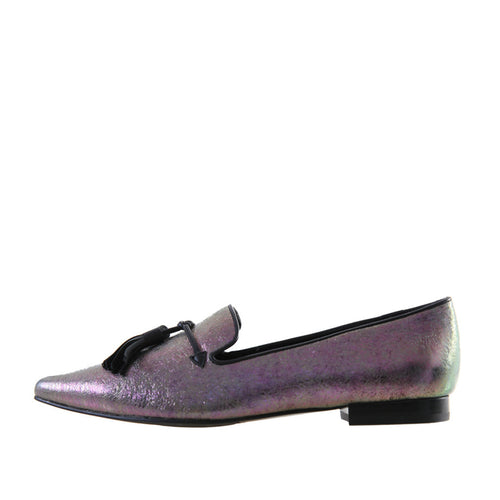 City (Pewter / Iridescent Leather) - Pellemoda.us  - 1