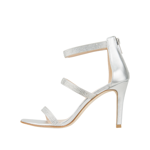 Dalia 2 (Silver Silk / Metallic Kid Nappa Leather) - 60% Off - Pellemoda.us  - 1