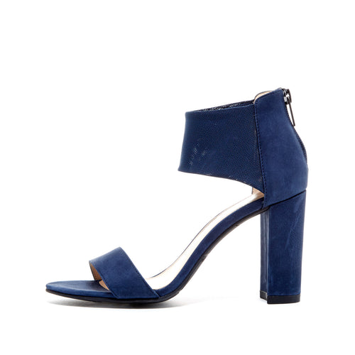 Pelle Moda - Fawn - Midnight Blue Block Heels
