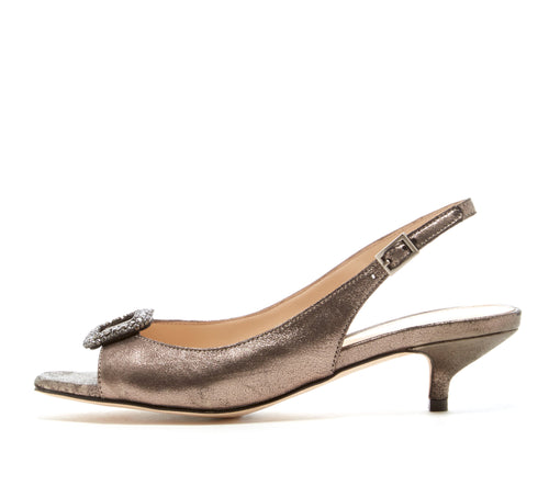 Fresca (Pewter / Metallic Kid Suede) - Pellemoda.us  - 1