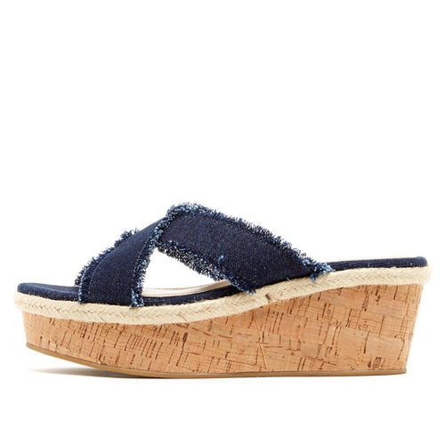 Hariet (Indigo / Denim (Frayed) / Cork) - Pellemoda.us  - 1