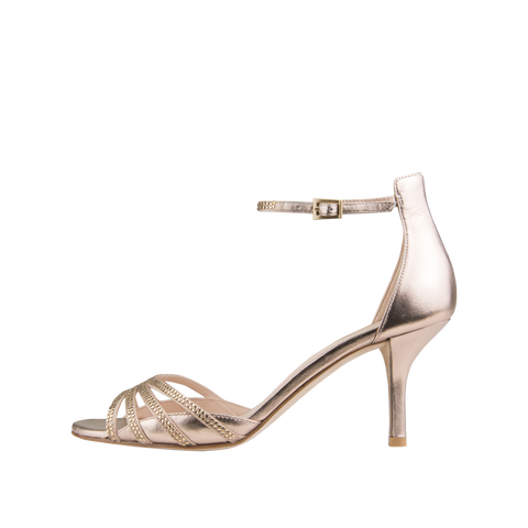 Isabel (Platinum Gold / Silk / Metallic Kid Nappa Leather) - Pellemoda.us  - 1