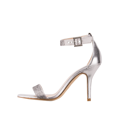 Kacey (Silver Silk / Metallic Kid Nappa Leather) - Pellemoda.us  - 1