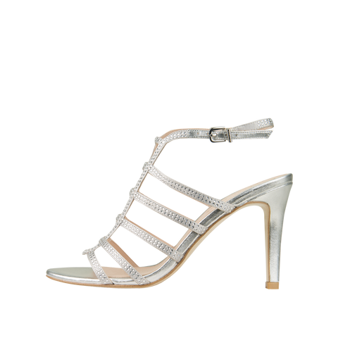 Nell 2 (Silver / Silk / Metallic Kid Nappa Leather) - 40% Off - Pellemoda.us  - 1