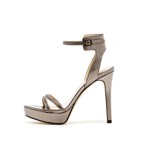 Oanel (Pewter / Satin / Metallic Nappa) - Pellemoda.us  - 1