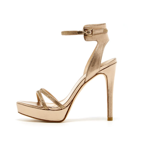 Oanel (Platinum Gold / Satin / Metallic Nappa) - Pellemoda.us  - 1
